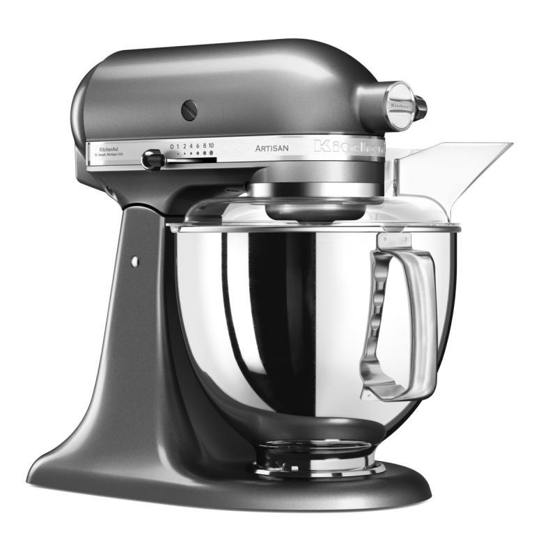 KitchenAid robot Artisan 5KSM175 stříbřitě šedá + Akční set KitchenAid balíček s příslušenstvím FPPC