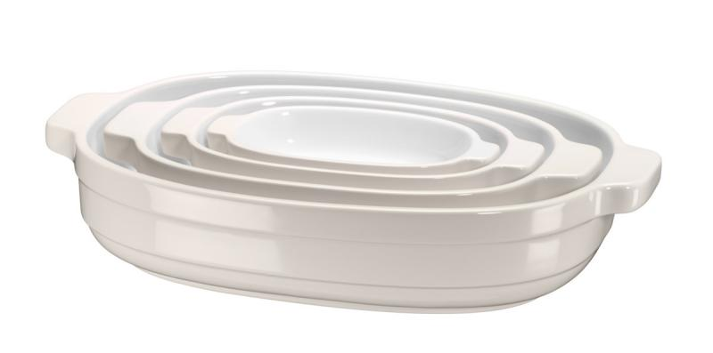 KitchenAid - pekáč keramický - sada 4 ks - mandlová