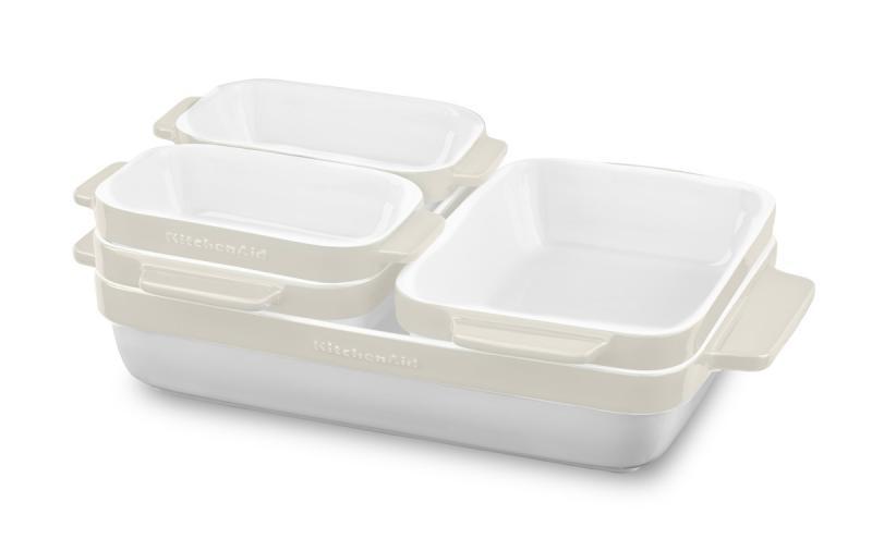 KitchenAid pekáč keramický - sada 5 ks - mandlová