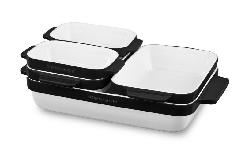 KitchenAid pekáč keramický - sada 5 ks - černá