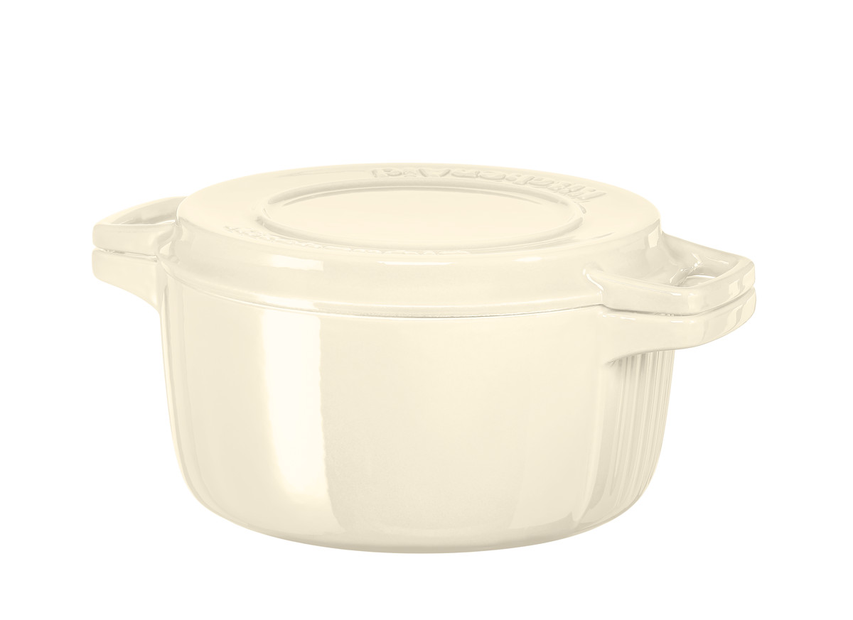 KitchenAid hrnec s poklicí litinový 3,8l, mandlová 24 cm
