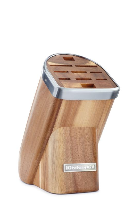 KitchenAid Blok na nože, 10 slotů, přírodní dřevo-světlý akát KKFMA01AA